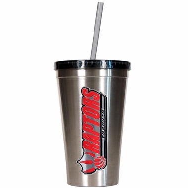 Toronto Raptors 16oz Stainless Steel Insulated Tumbler with Straw