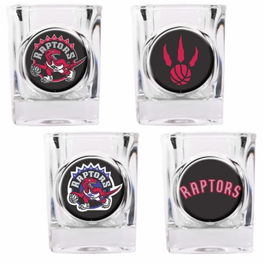 Toronto Raptors 4 Piece Assorted Shot Glass Set