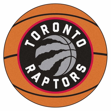 Toronto Raptors Basketball Shaped Rug