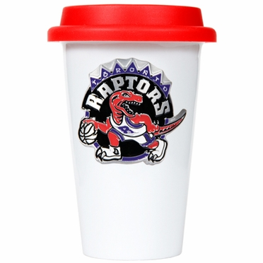 Toronto Raptors Ceramic Travel Cup (Team Color Lid)