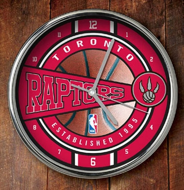 Toronto Raptors Chrome Clock
