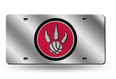 Toronto Raptors Deluxe Mirrored Laser Cut License Plate