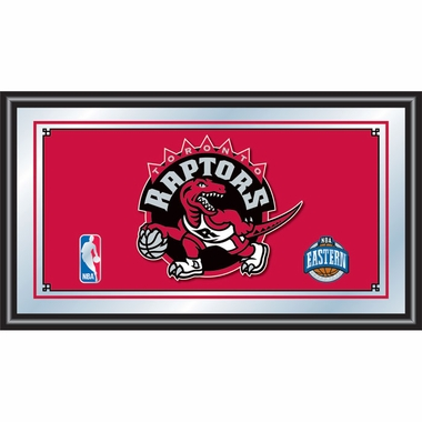 Toronto Raptors Framed Logo Bar Mirror