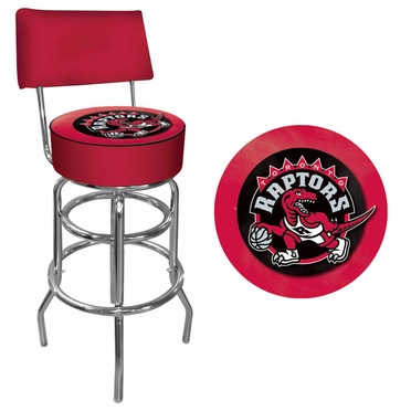 Toronto Raptors Padded Bar Stool with Back