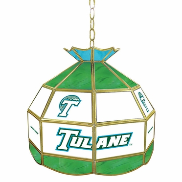 Tulane 16 Inch Diameter Stained Glass Pub Light