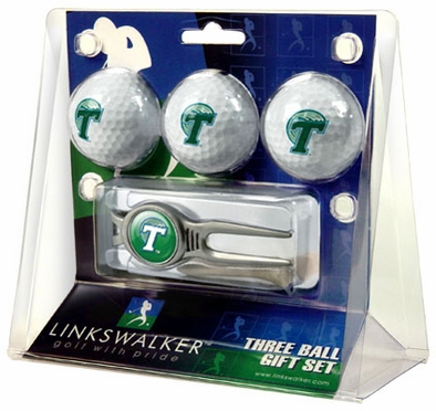Tulane 3 Ball Gift Pack With Kool Tool