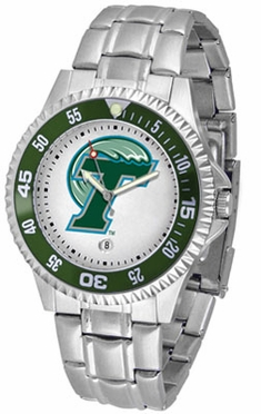 Tulane Competitor Men's Steel Band Watch