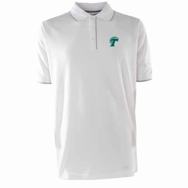 Tulane Mens Elite Polo Shirt (Color: White)