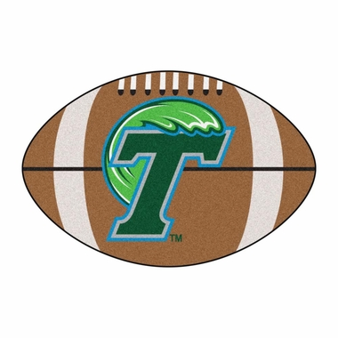 Tulane Football Shaped Rug