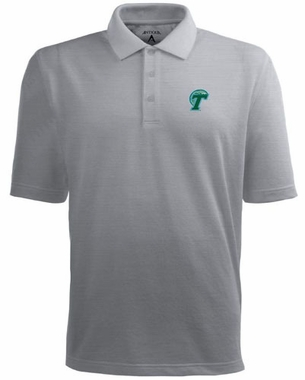 Tulane Mens Pique Xtra Lite Polo Shirt (Color: Gray)