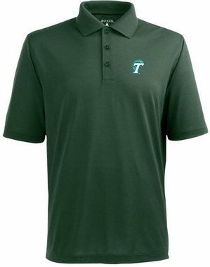 Tulane Mens Pique Xtra Lite Polo Shirt (Color: Green)