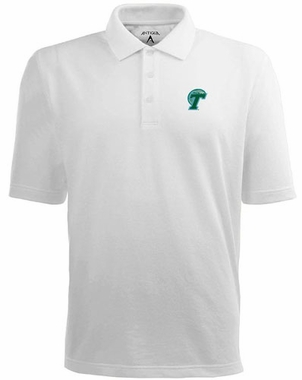 Tulane Mens Pique Xtra Lite Polo Shirt (Color: White)