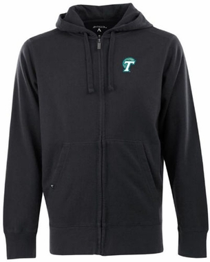 Tulane Mens Signature Full Zip Hooded Sweatshirt (Team Color: Black)