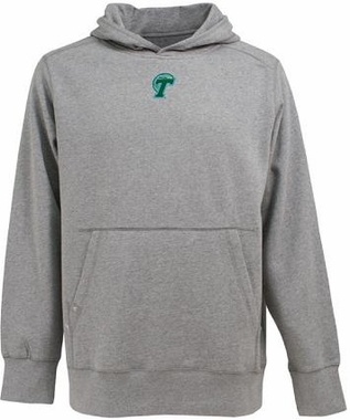 Tulane Mens Signature Hooded Sweatshirt (Color: Gray)