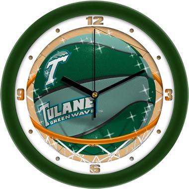 Tulane Slam Dunk Wall Clock