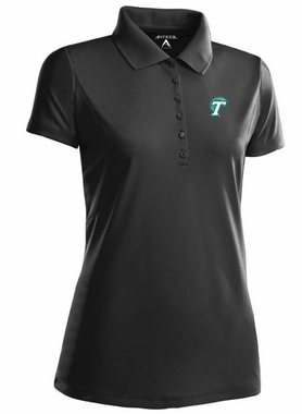 Tulane Womens Pique Xtra Lite Polo Shirt (Team Color: Black)