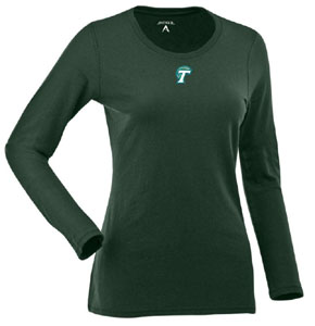 Tulane Womens Relax Long Sleeve Tee (Team Color: Green) - Large