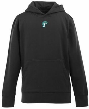 Tulane YOUTH Boys Signature Hooded Sweatshirt (Team Color: Black)