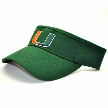 U of Miami Adjustable Birdie Visor