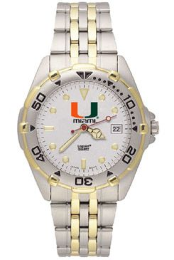 U of Miami All Star Mens (Steel Band) Watch