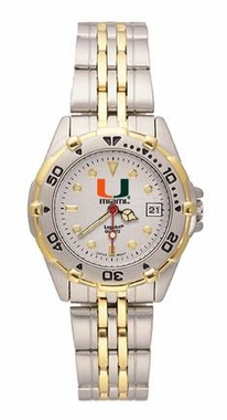 U of Miami All Star Womens (Steel Band) Watch