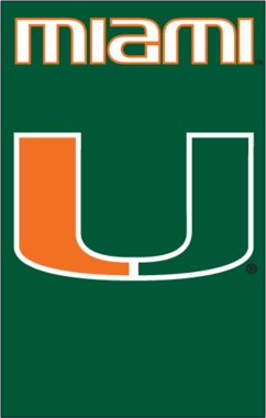 U of Miami Applique Banner Flag