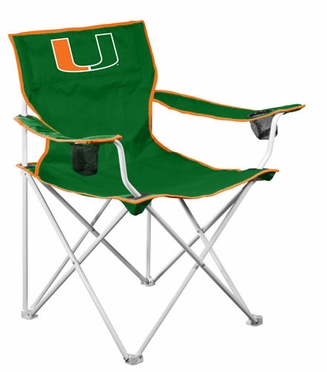 U of Miami Deluxe Adult Folding Logo Chair