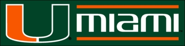 U of Miami Eight Foot Banner