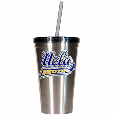 UCLA 16oz Stainless Steel Insulated Tumbler with Straw