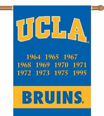 UCLA 2 Sided Championship Banner (P)