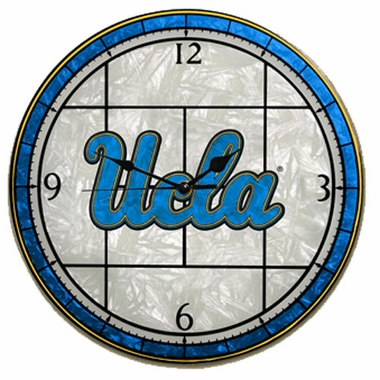 UCLA Art Glass Clock
