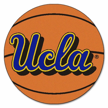 UCLA Basketball Shaped Rug