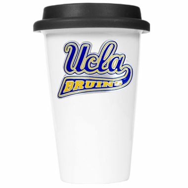 UCLA Ceramic Travel Cup (Black Lid)