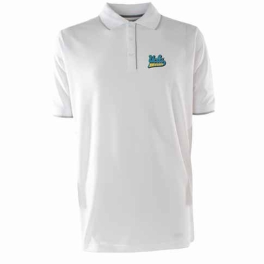 UCLA Mens Elite Polo Shirt (Color: White)