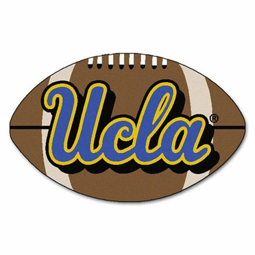 UCLA Football Shaped Rug