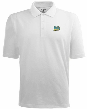 UCLA Mens Pique Xtra Lite Polo Shirt (Color: White)