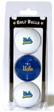 UCLA Set of 3 Multicolor Golf Balls