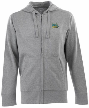 UCLA Mens Signature Full Zip Hooded Sweatshirt (Color: Gray)