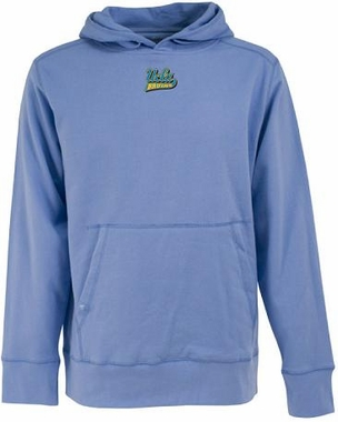 UCLA Mens Signature Hooded Sweatshirt (Team Color: Aqua)