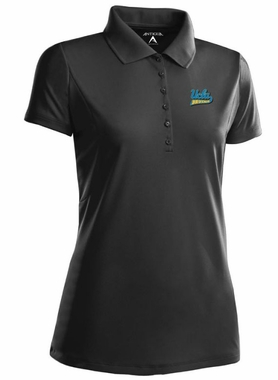 UCLA Womens Pique Xtra Lite Polo Shirt (Team Color: Black)