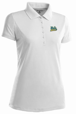 UCLA Womens Pique Xtra Lite Polo Shirt (Color: White)