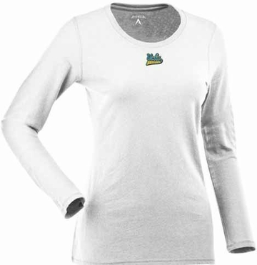UCLA Womens Relax Long Sleeve Tee (Color: White)