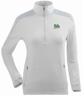 UCLA Womens Succeed 1/4 Zip Performance Pullover (Color: White)