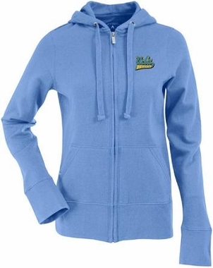 UCLA Womens Zip Front Hoody Sweatshirt (Team Color: Aqua)