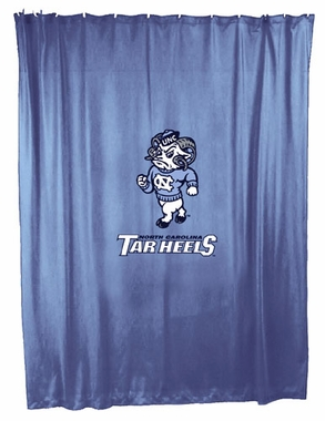 UNC Jersey Material Shower Curtain