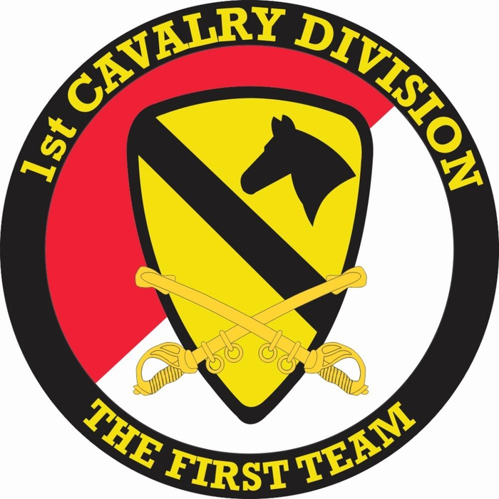 Us Army 1st Cavalry Division With Sabres Decal