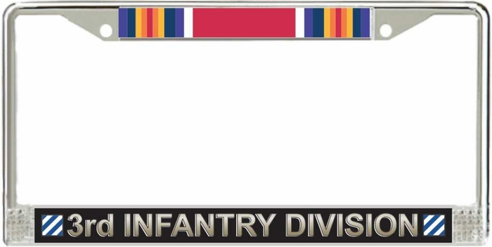 Us Army 3rd Infantry Division Ww2 Veteran License Plate Frame