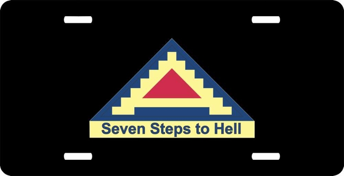 Us army seven steps to hell 7th army license plate