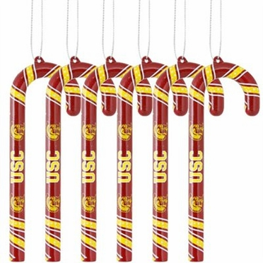 USC 2010 Set of 6 Candy Cane Ornaments