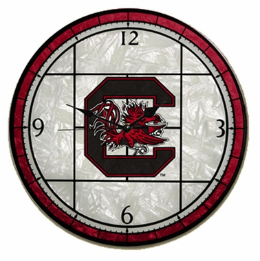 USC Art Glass Clock